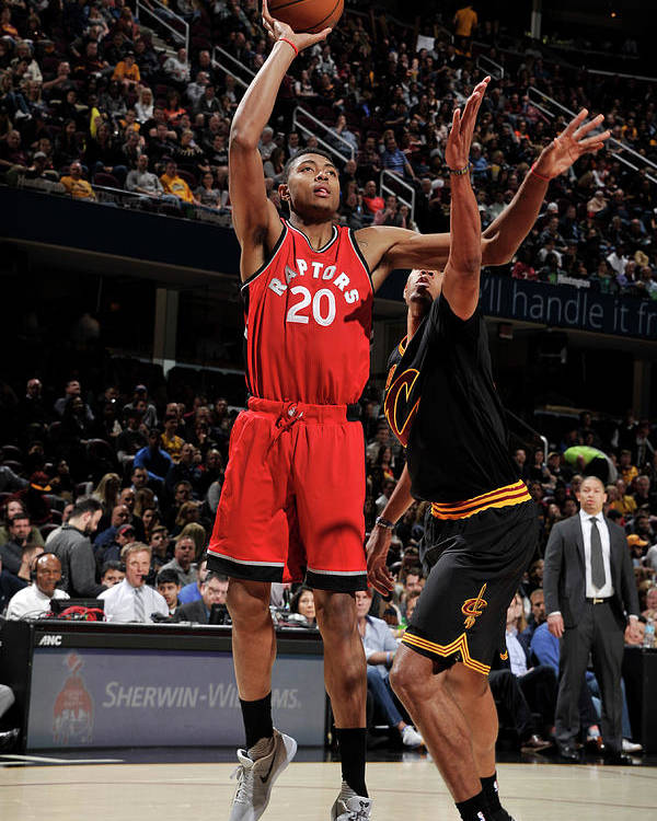 Nba Pro Basketball Poster featuring the photograph Bruno Caboclo by David Liam Kyle