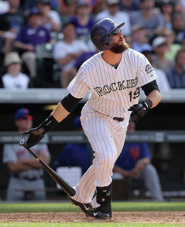 National League Baseball Poster featuring the photograph Charlie Blackmon by Doug Pensinger
