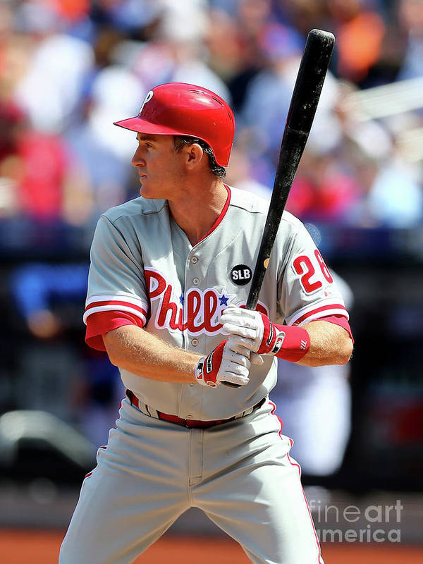 Three Quarter Length Poster featuring the photograph Chase Utley by Elsa