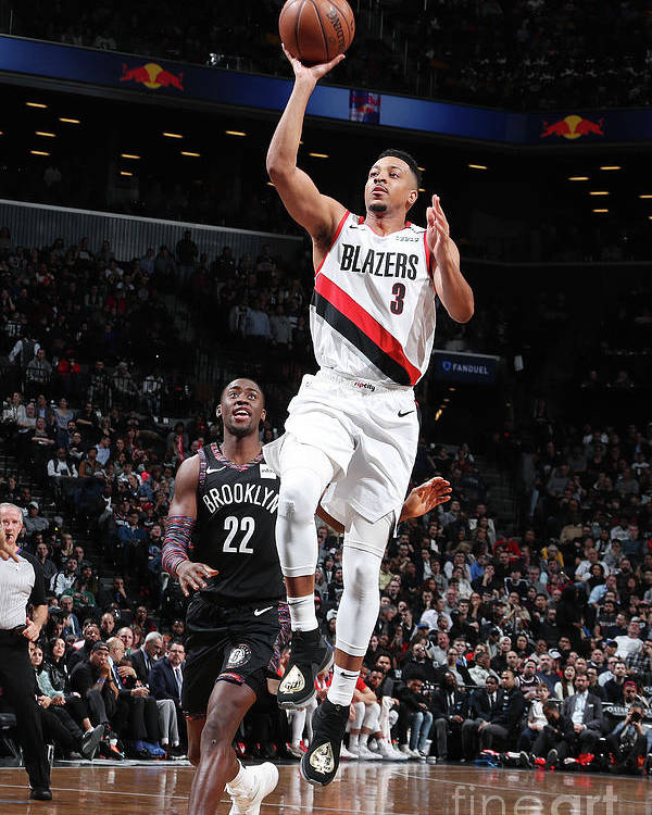 Nba Pro Basketball Poster featuring the photograph C.j. Mccollum by Nathaniel S. Butler