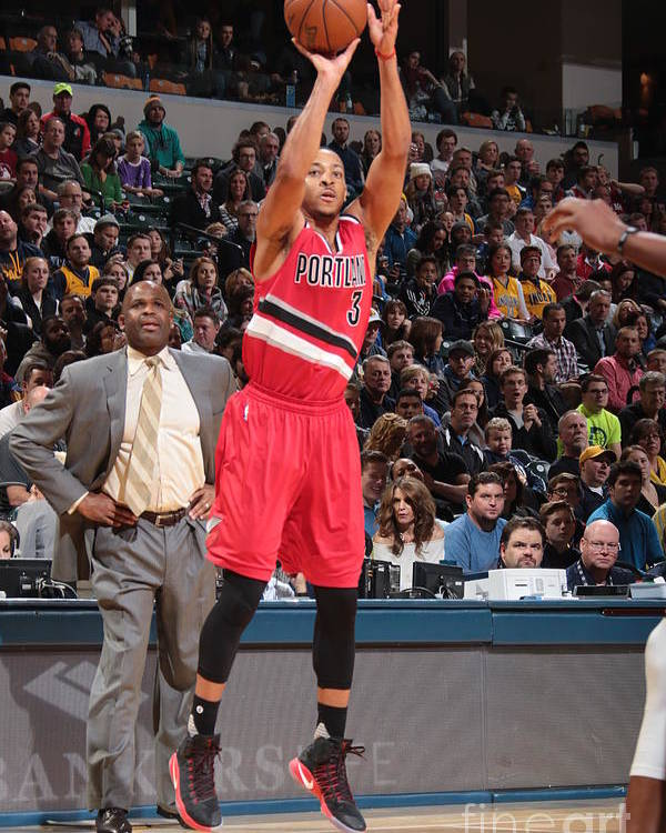 Nba Pro Basketball Poster featuring the photograph C.j. Mccollum by Ron Hoskins