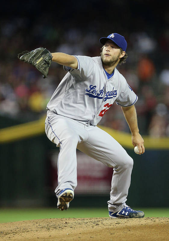 People Poster featuring the photograph Clayton Kershaw by Christian Petersen