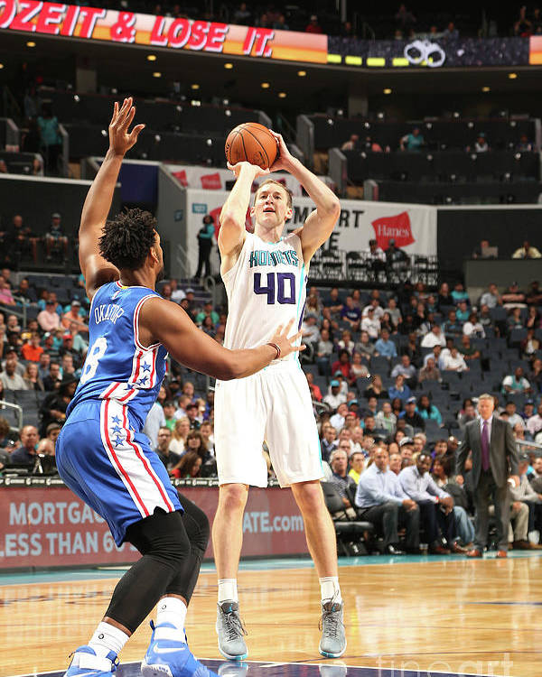 Nba Pro Basketball Poster featuring the photograph Cody Zeller by Kent Smith