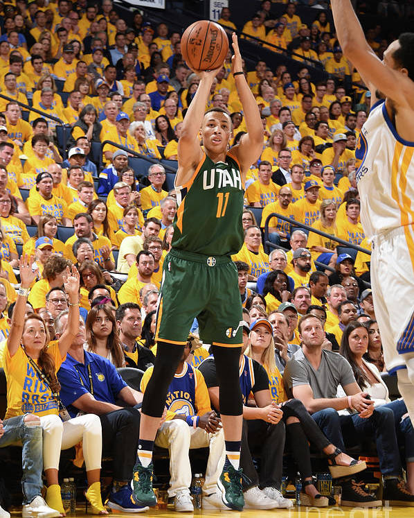 Playoffs Poster featuring the photograph Dante Exum by Andrew D. Bernstein
