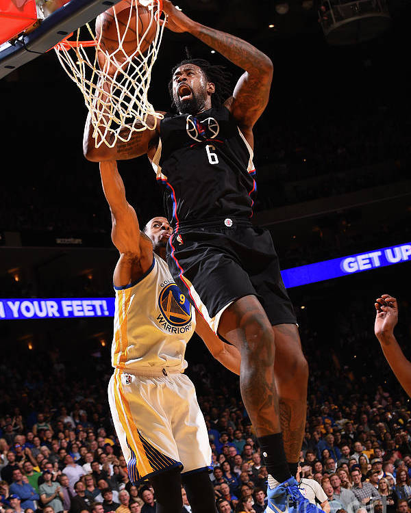 Nba Pro Basketball Poster featuring the photograph Deandre Jordan by Noah Graham