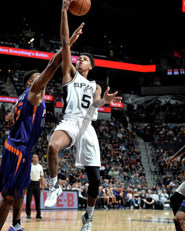 Nba Pro Basketball Poster featuring the photograph Dejounte Murray by Mark Sobhani