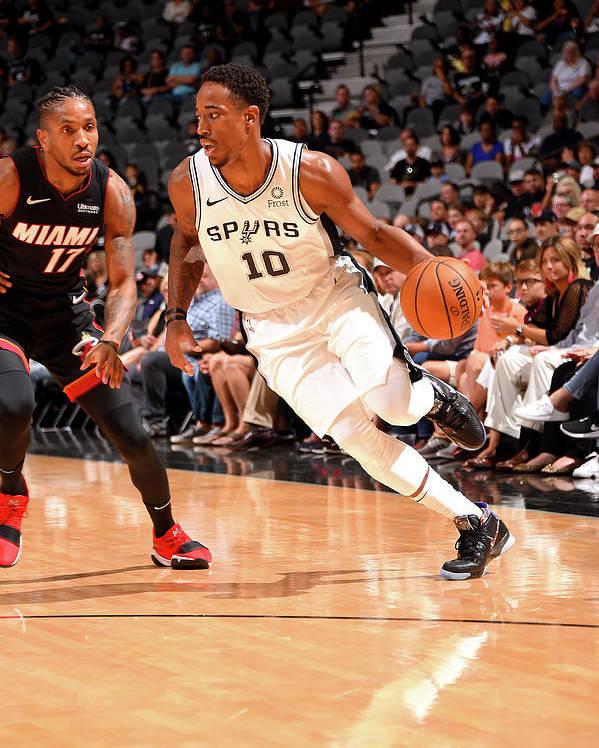 Nba Pro Basketball Poster featuring the photograph Demar Derozan by Bill Baptist