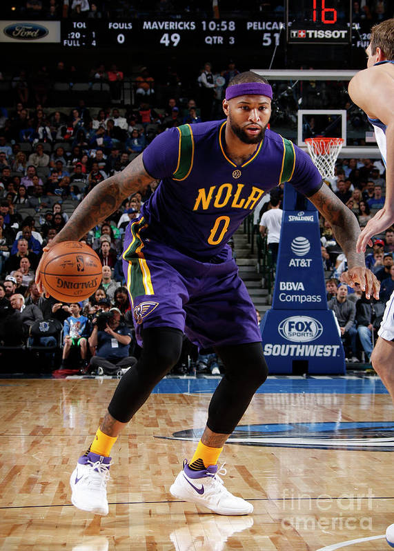 Nba Pro Basketball Poster featuring the photograph Demarcus Cousins by Glenn James
