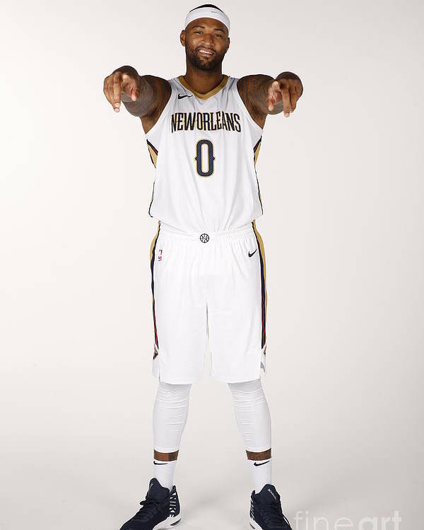 Media Day Poster featuring the photograph Demarcus Cousins by Jonathan Bachman