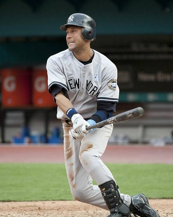 People Poster featuring the photograph Derek Jeter by Ronald C. Modra/sports Imagery