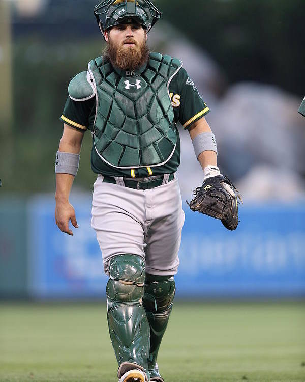 American League Baseball Poster featuring the photograph Derek Norris by Paul Spinelli
