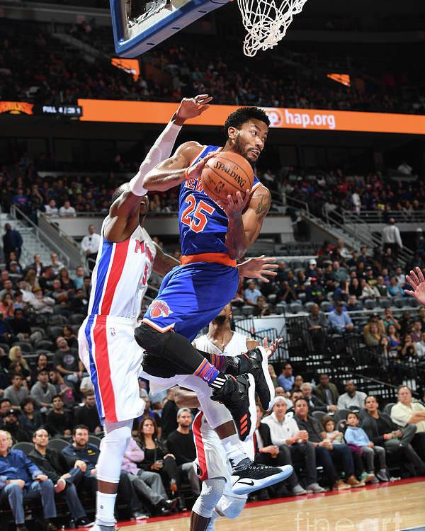 Nba Pro Basketball Poster featuring the photograph Derrick Rose by Chris Schwegler