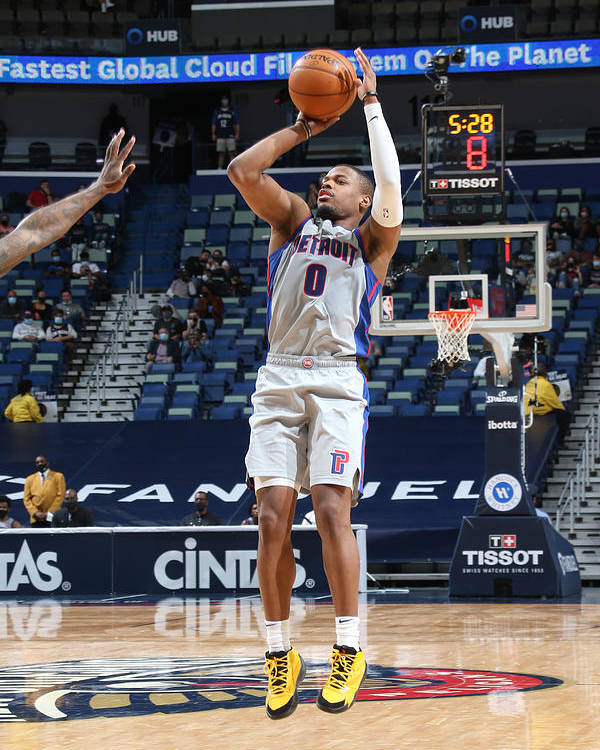 Smoothie King Center Poster featuring the photograph Detroit Pistons v New Orleans Pelicans by Layne Murdoch Jr.