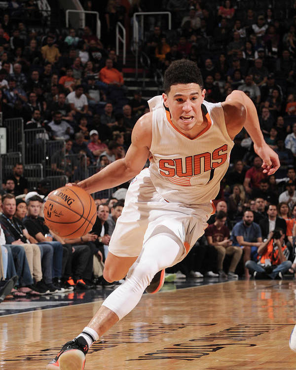 Nba Pro Basketball Poster featuring the photograph Devin Booker by Michael Gonzales