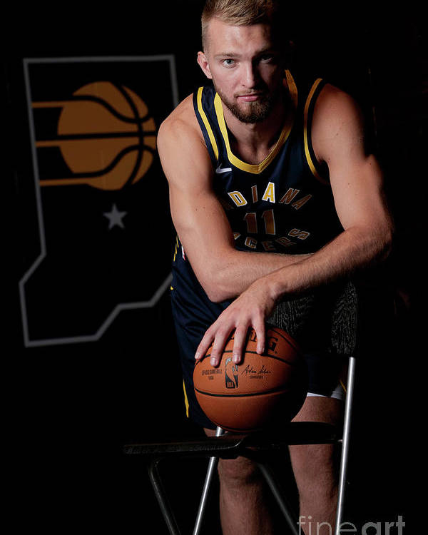 Media Day Poster featuring the photograph Domantas Sabonis by Ron Hoskins