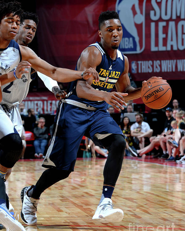 Nba Pro Basketball Poster featuring the photograph Donovan Mitchell by Bart Young