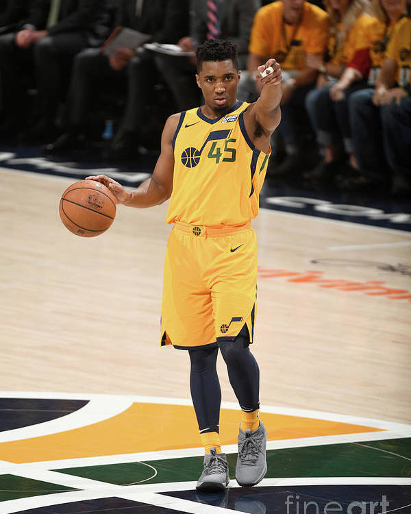 Playoffs Poster featuring the photograph Donovan Mitchell by Garrett Ellwood