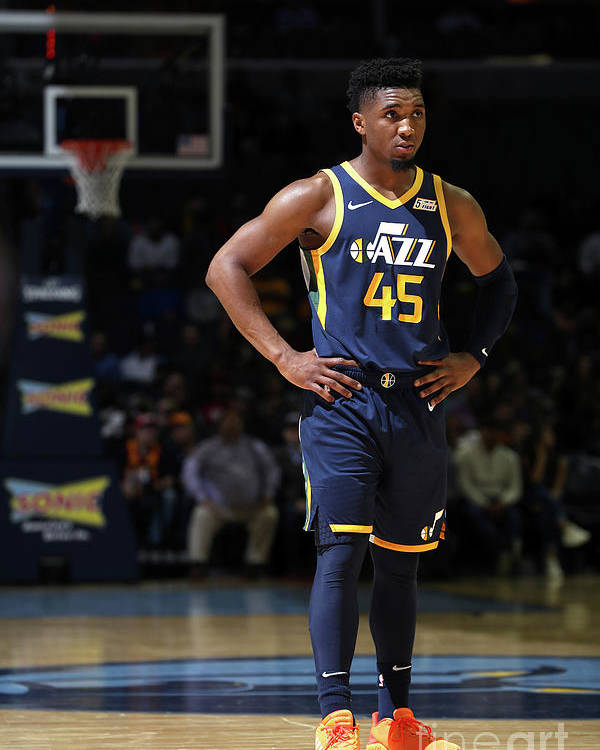Nba Pro Basketball Poster featuring the photograph Donovan Mitchell by Joe Murphy