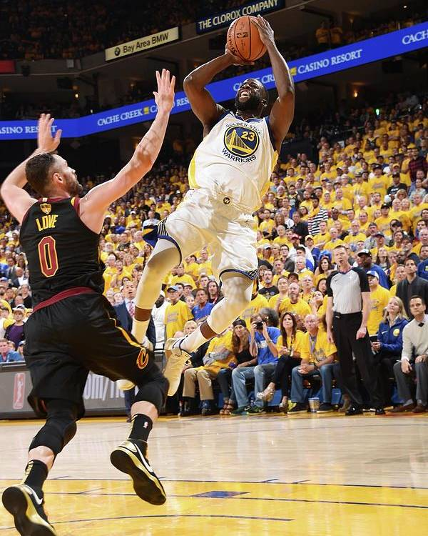 Playoffs Poster featuring the photograph Draymond Green by Andrew D. Bernstein