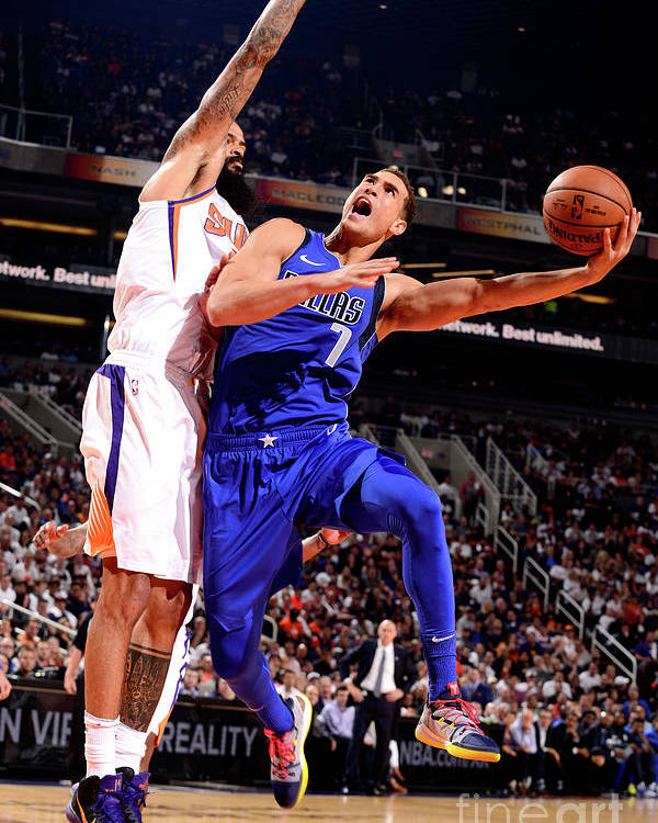 Dwight Powell Poster featuring the photograph Dwight Powell by Barry Gossage