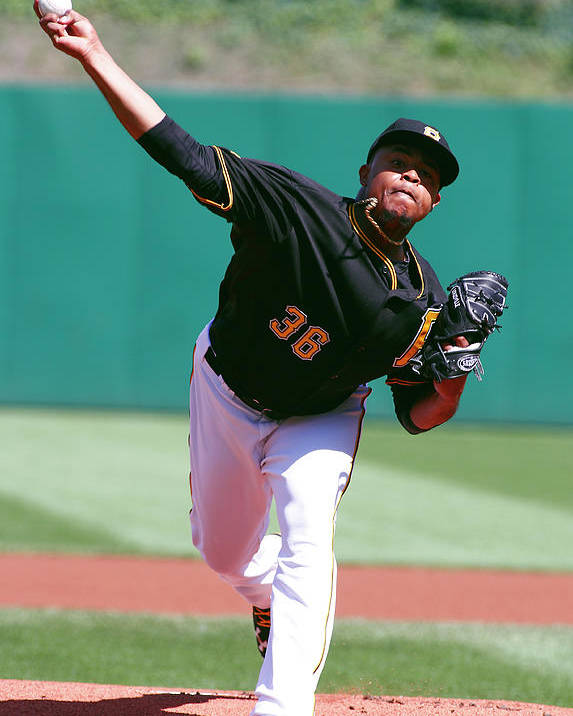 Professional Sport Poster featuring the photograph Edinson Volquez by Justin K. Aller