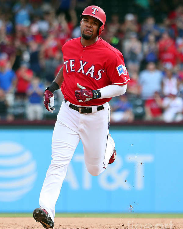 People Poster featuring the photograph Elvis Andrus by Richard Rodriguez