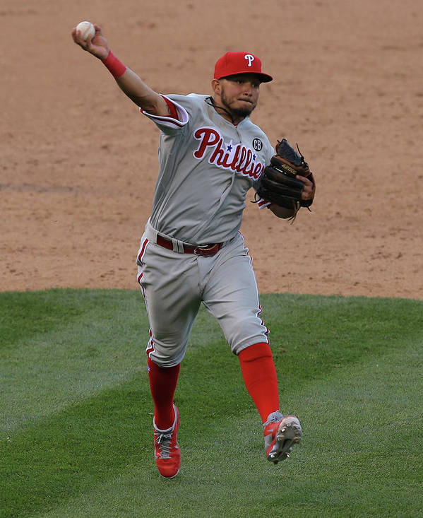 National League Baseball Poster featuring the photograph Freddy Galvis by Doug Pensinger