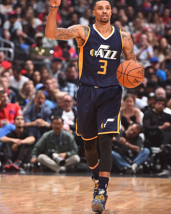 Nba Pro Basketball Poster featuring the photograph George Hill by Andrew D. Bernstein