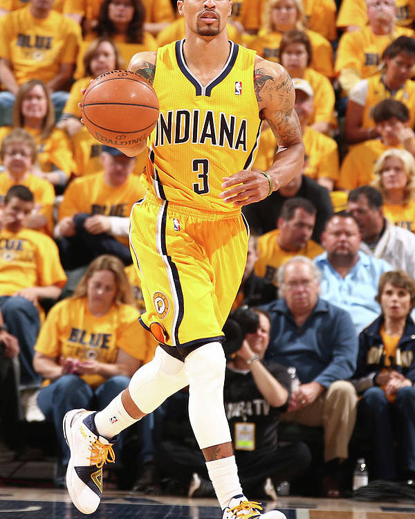 Playoffs Poster featuring the photograph George Hill by Nathaniel S. Butler
