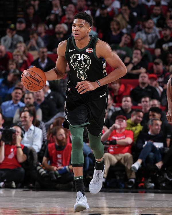 Nba Pro Basketball Poster featuring the photograph Giannis Antetokounmpo by Sam Forencich