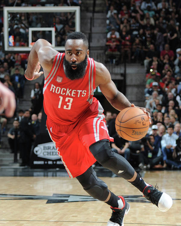 Nba Pro Basketball Poster featuring the photograph James Harden by Mark Sobhani