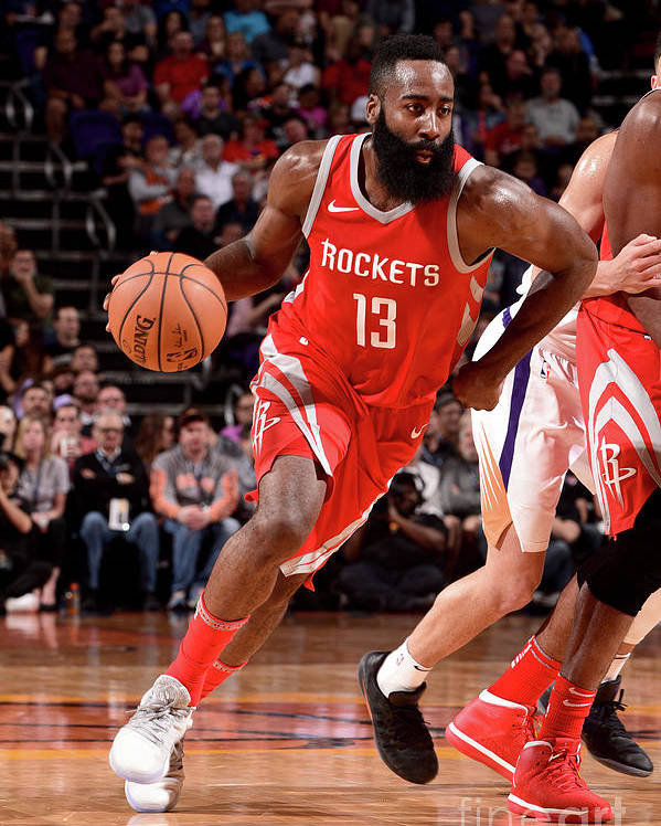 Nba Pro Basketball Poster featuring the photograph James Harden by Michael Gonzales