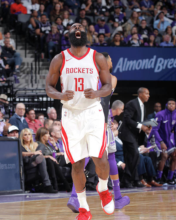 Nba Pro Basketball Poster featuring the photograph James Harden by Rocky Widner