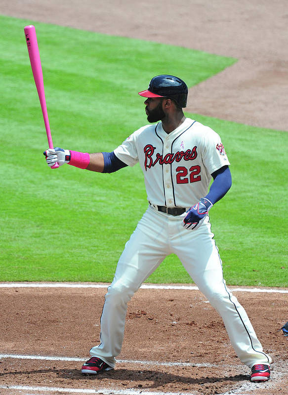 Atlanta Poster featuring the photograph Jason Heyward by Scott Cunningham