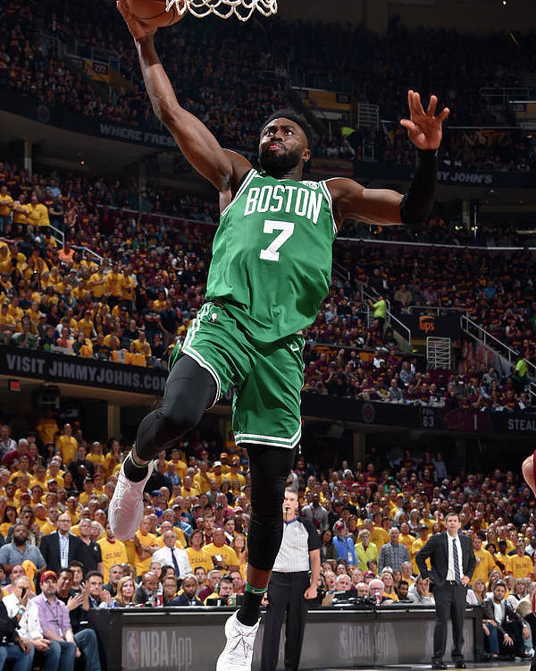 Playoffs Poster featuring the photograph Jaylen Brown by David Liam Kyle