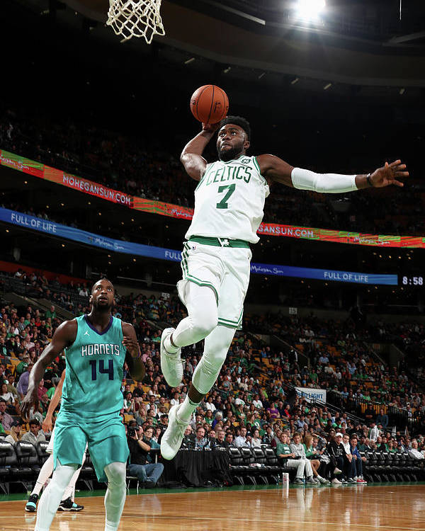 Nba Pro Basketball Poster featuring the photograph Jaylen Brown by Nathaniel S. Butler