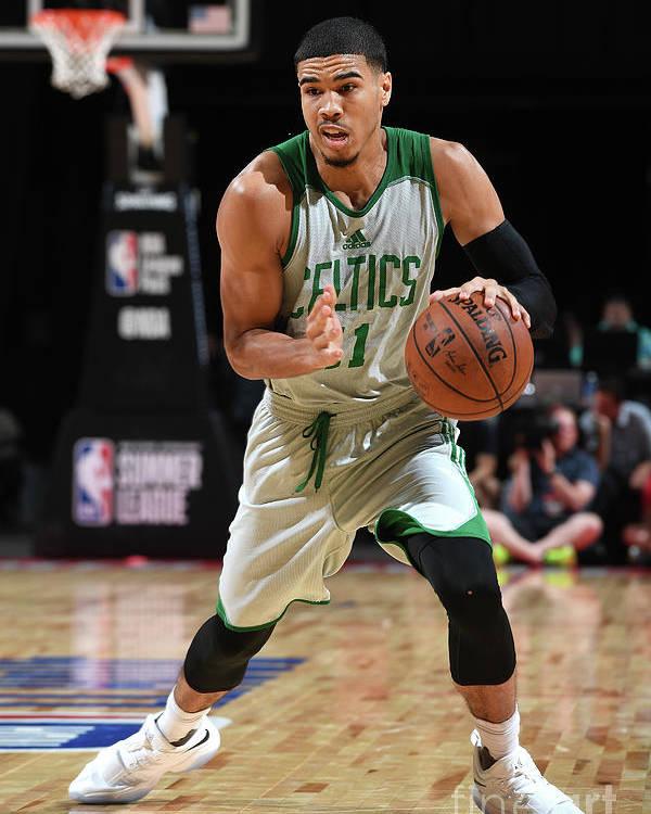 Nba Pro Basketball Poster featuring the photograph Jayson Tatum by Garrett Ellwood