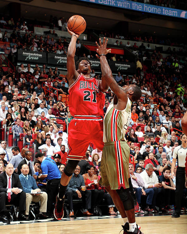 Nba Pro Basketball Poster featuring the photograph Jimmy Butler by Joe Murphy