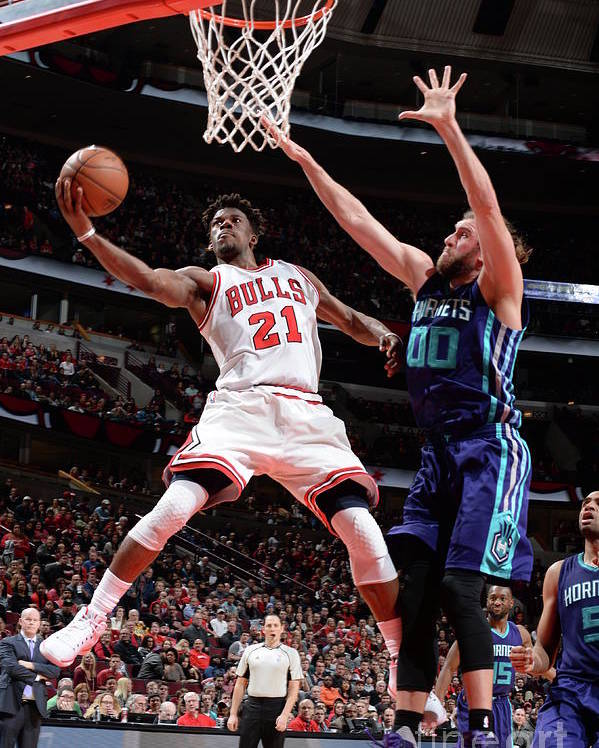 Nba Pro Basketball Poster featuring the photograph Jimmy Butler by Randy Belice