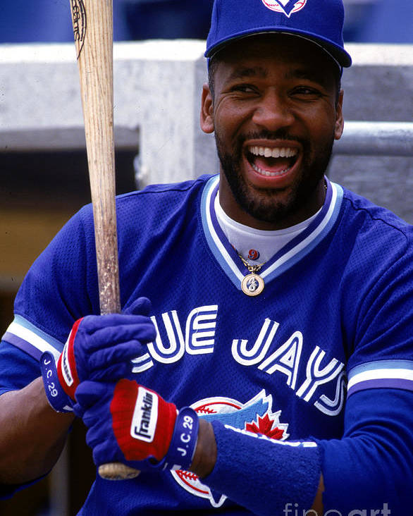 American League Baseball Poster featuring the photograph Joe Carter by Ron Vesely