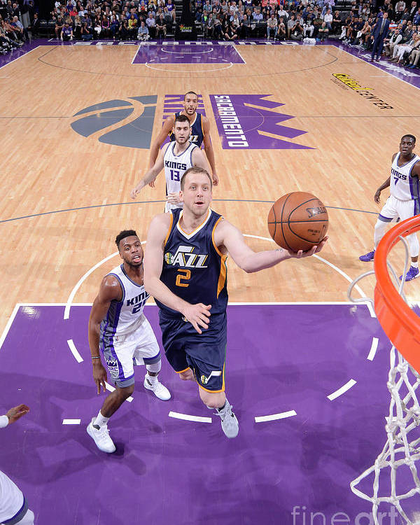 Nba Pro Basketball Poster featuring the photograph Joe Ingles by Rocky Widner