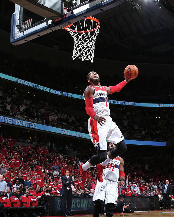 Playoffs Poster featuring the photograph John Wall by Ned Dishman