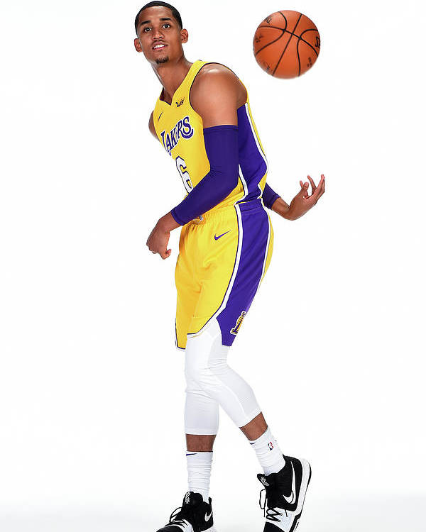 Media Day Poster featuring the photograph Jordan Clarkson by Andrew D. Bernstein