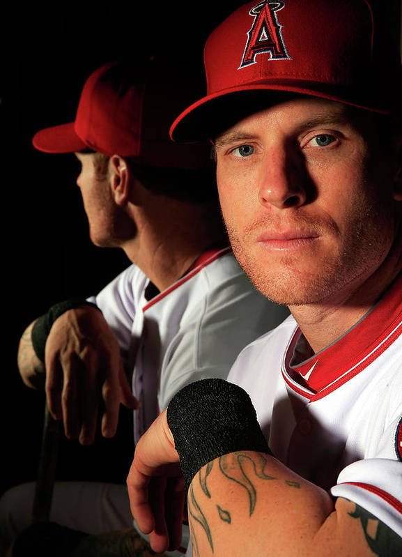 Media Day Poster featuring the photograph Josh Hamilton by Jamie Squire