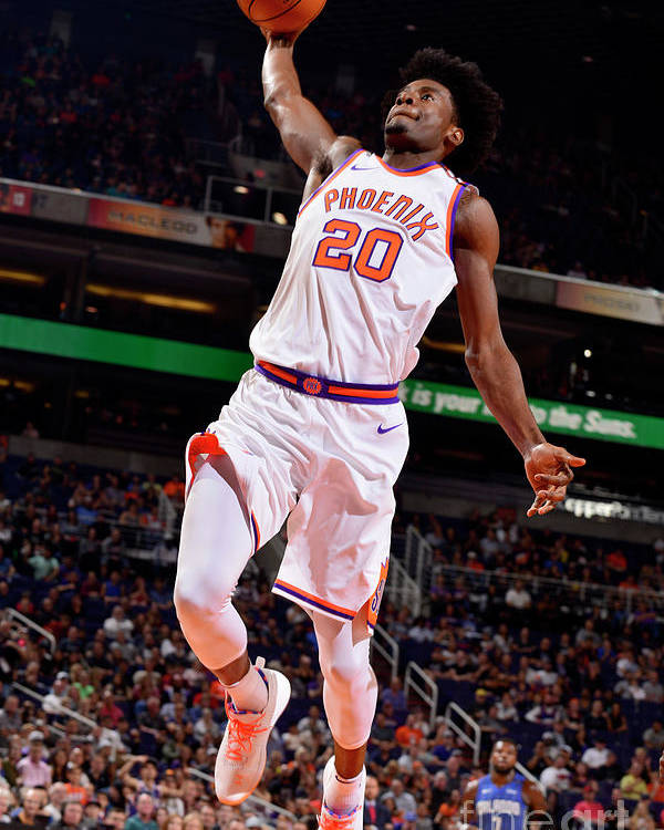 Nba Pro Basketball Poster featuring the photograph Josh Jackson by Barry Gossage