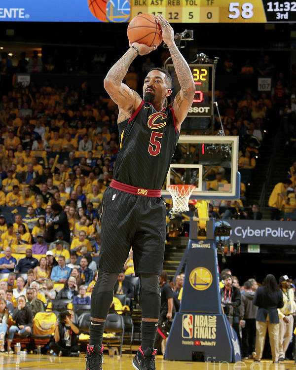 Playoffs Poster featuring the photograph J.r. Smith by Nathaniel S. Butler