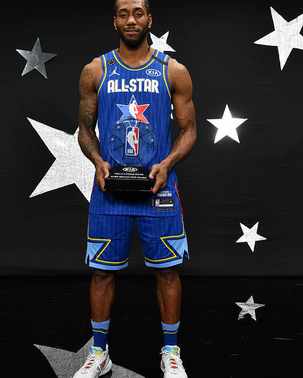 Nba Pro Basketball Poster featuring the photograph Kawhi Leonard and Kobe Bryant by Jesse D. Garrabrant