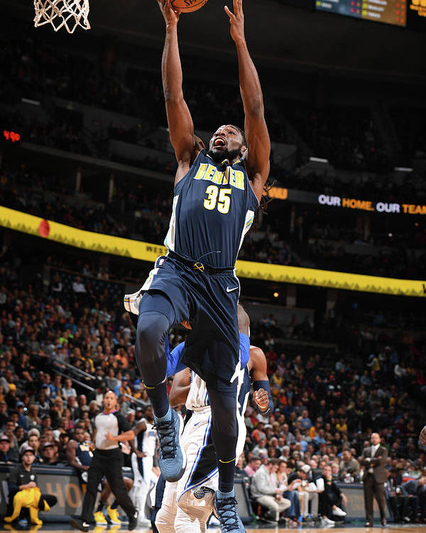 Nba Pro Basketball Poster featuring the photograph Kenneth Faried by Garrett Ellwood