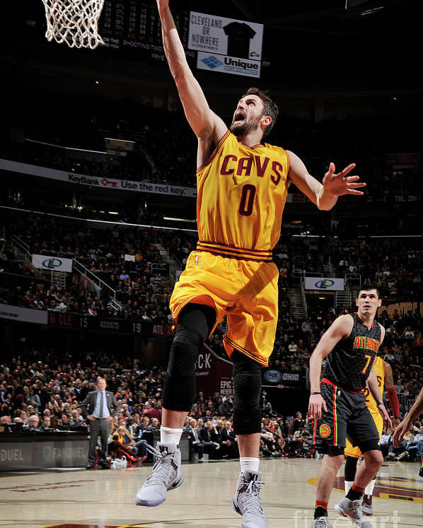 Nba Pro Basketball Poster featuring the photograph Kevin Love by David Liam Kyle