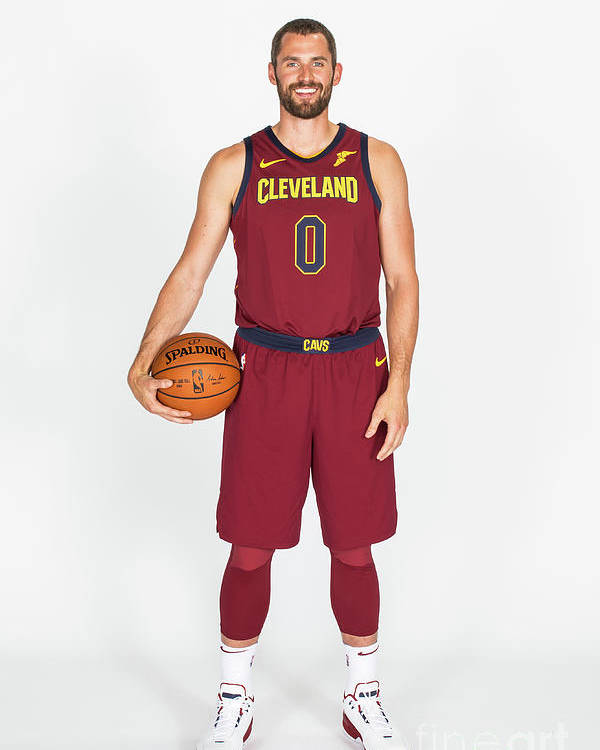 Media Day Poster featuring the photograph Kevin Love by Michael J. Lebrecht Ii